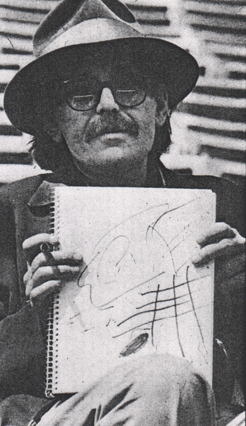 Don with sketch Creem (Mar 1981)