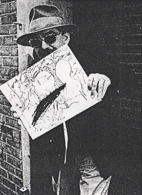Don with sketch Creem (May 1983)