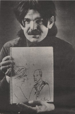Don with sketch Melody Maker (Oct 1989)