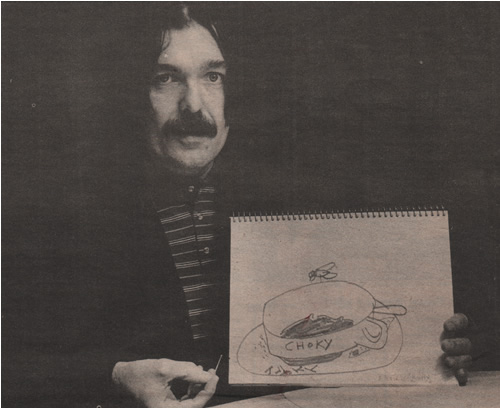 Don with sketch NME (Nov 1978)
