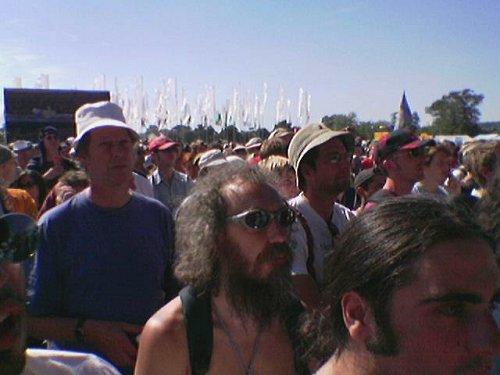 Audience shot - Magic Band live at Glastonbury 2004
