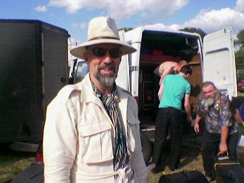 John French post-gig - Magic Band live at Glastonbury 2004